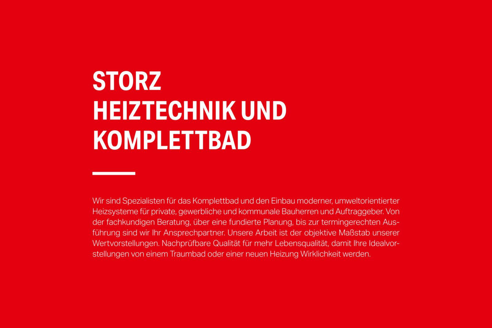 Storz Heiztechnik Schrift