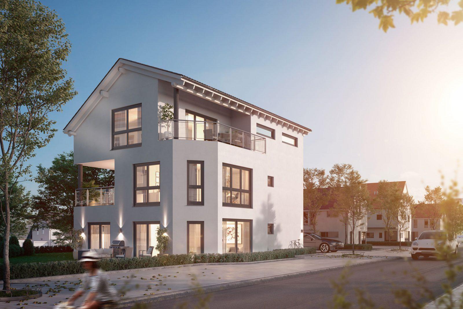 WeberHaus Mehrfamilienhaus 3D Rendering