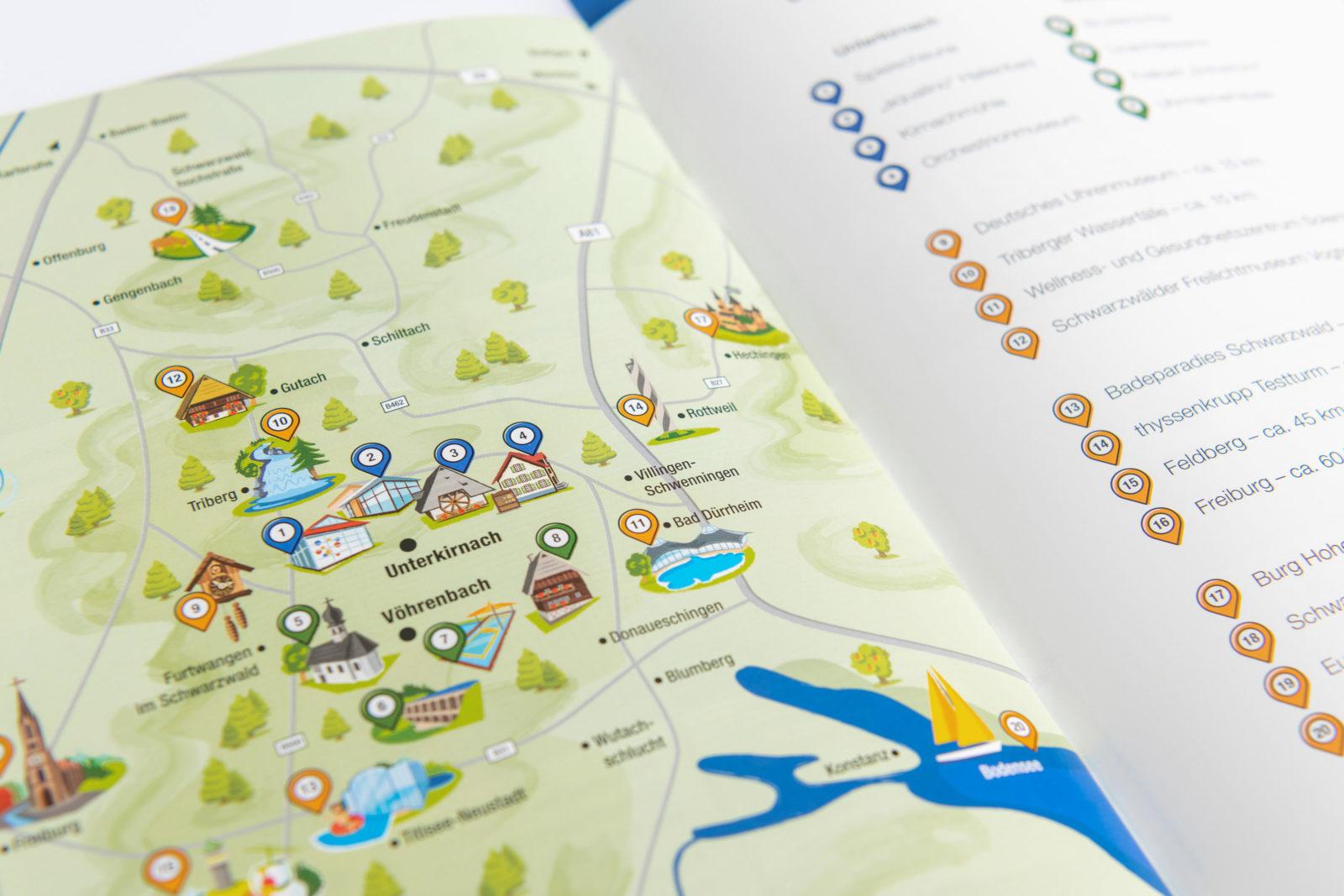 Unterkirnach Karte Ausflugsziele
