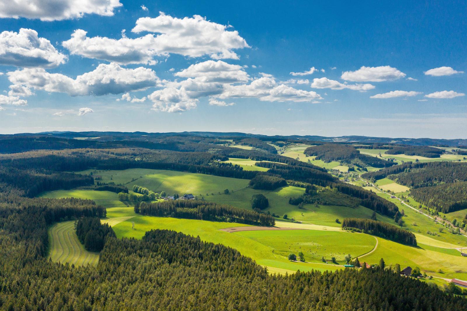 Unterkirnach Schwarzwald Drohnenaufnahme
